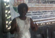 Professor Patricia Essilfie, Founder, Boys and Girls Club of Ghana, addressing parents