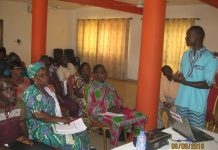 Mr Alhassan Abdulai Iddi, the Executive Director of NOYED-Ghana addressing a day's consensus building workshop in Tamale.