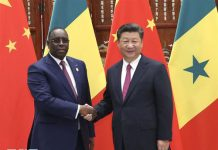 President Xi Jinping met with President Macky Sall of Senegal in Hangzhou