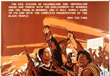 china african american liberation poster
