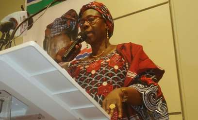 Gambia's first-ever female presidential candidate Issatou Touray, seen in September 2016, said ehw ants to offer her