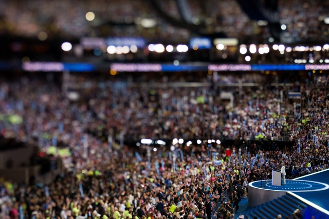 U.S. Democratic presidential nominee Hillary Clinton speaks on the last day of the 2016 U.S. Democratic National Convention at Wells Fargo Center, Philadelphia, Pennsylvania, the United States on July 28, 2016. (Xinhua/Li Muzi) (zw)