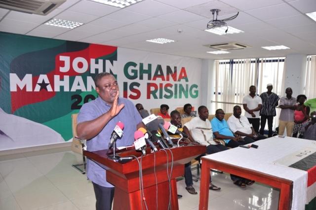 Deputy General secretary, Mr. Koku Anyidoho addressing the Press conference.