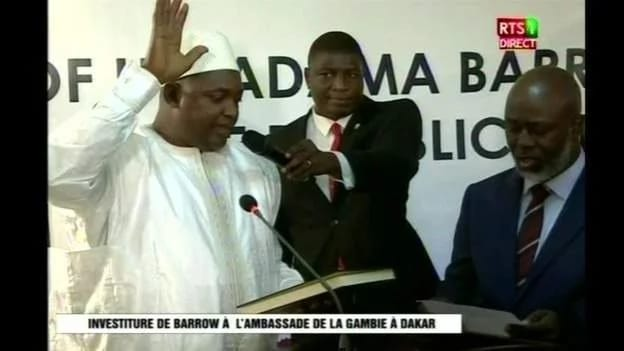 Adama Barrow sworn in