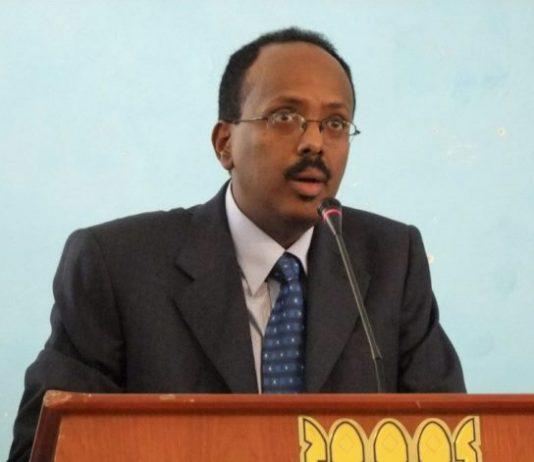 Former prime minister Mohamed Abdullahi Farmajo, seen here in 2010, has been declared Somalia's new president. (Farah Abdi Warsameh / The Associated Press)