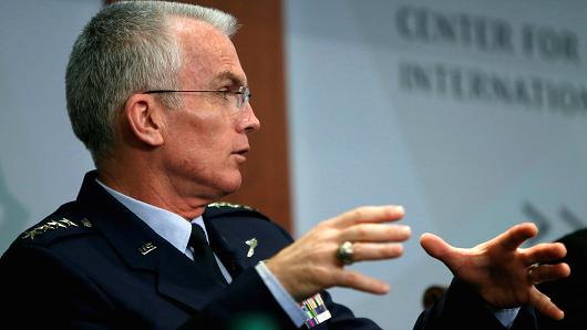 Gary Cameron   Reuters Vice Chairman of the Joint Chiefs of Staff U.S. Air Force General Paul Selva speaks at the Center for Strategic and International Studies in Washington, U.S., October 28, 2016.