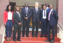 The Vivo Energy Ghana delegation to the King of the Asante Kingdom, Otumfuo Osei Tutu II