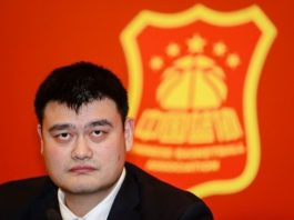 Yao Ming attends a press conference in Beijing, China, Feb. 23, 2017. He was voted as the president of the Chinese Basketball Association (CBA) here on Thursday. (Photo by CBA website)