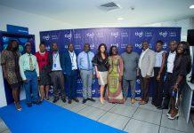 Minister of Communications visit Tigo