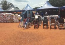 some of the items donated to the orphanages, people with physically challenges and other institutions