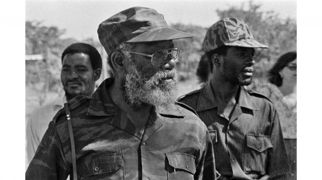 Andimba Toivo ya Toivo in military uniform