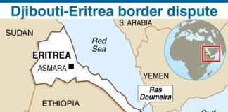 Eritrea-Djibouti Map of Border Dispute Over Ras Doumeira