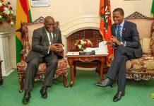 Zambian President Edgar Lungu and Ghanaian President Nana Akufo-Addo