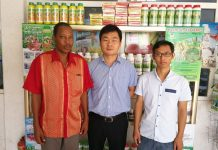 Mr Francis Clottey, External Consultant, Mr. James Zhang, Sales & Marketing Manager, Mr Bruce Wang, Marketing Executive