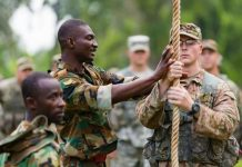 Ghana Armed Forces train US soldiers