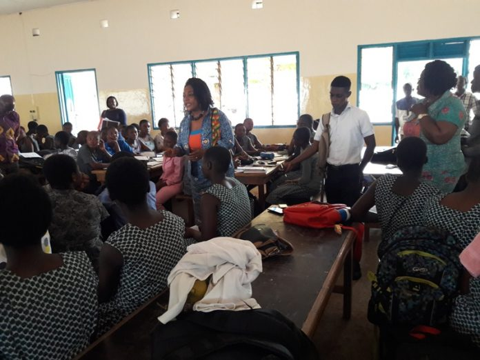 Otiko Djaba free SHS monitoring to Accra Girls School1