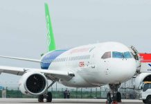 C919 takes off at the airport. (Photo by Commercial Aircraft Corporation of China)