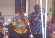 Chiefs Galamsey Mr. Essien addressing the Dormaa Traditional Council