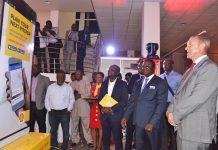 From Right-The Dutch Ambassador- Ghana H. E. Ron Strikker, the Managing Director of VEGH, Mr. Ebenezer Faulkner & Mr. Jacob Amuah, Technical Director NPA
