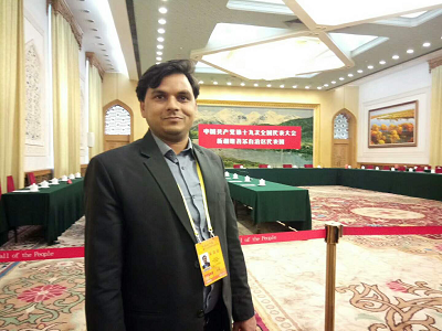 Muhammad Zamir Asadi in the Great Hall of the People
