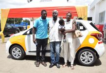 Samuel Agbesi with his Family