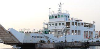 ship docks at the port of Djibouti