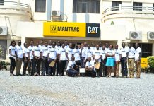 Group Picture of Graduates and Staff of Mantrac Ghana