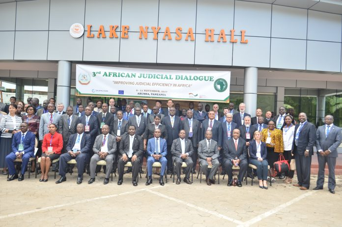 Cross section of participants at the Third African Judicial Dialogue