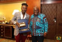 Shatta Wale visits the president