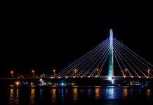 A view of Lekki Ikoyi Link Bridge At Night Lagos at Night