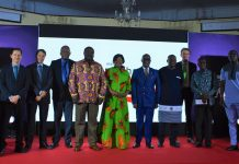 Deputy Minister Of Trade, Robert Ahomka -Lindsay with officials of UNIDO,SECO and GEPA at the Launch