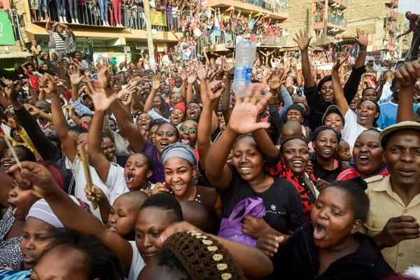 Kenya ruling Jubilee Party members and followers of President Uhuru Kenyatta