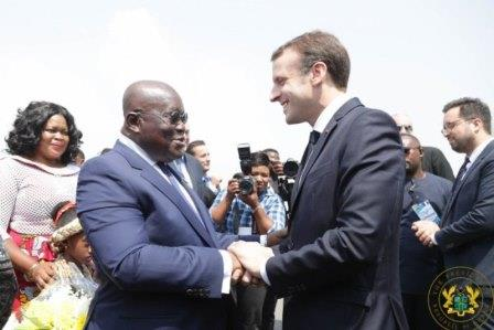 President Akufo-Addo welcomes President Macron