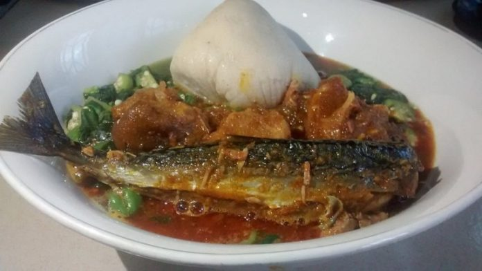 Banku and Okro Soup