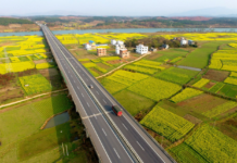 Photo taken on March 4, 2018 shows a bridge on an expressway from China's southeast Xiamen to Chengdu in southwest Sichuan province. (Photo by He Hongfu from People's Daily Online)