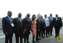 Mrs Dentaa Amoateng MBE with Dignitaries