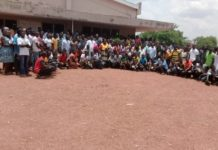 A group photo of the youth after the programme