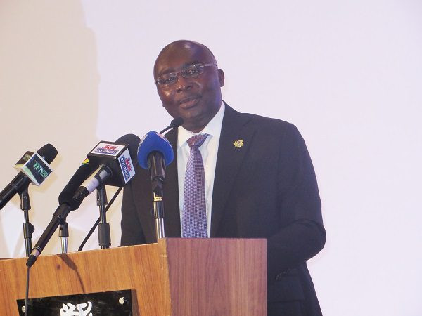 Vice President Alhaji Dr Mahamudu Bawumia speaking at the event