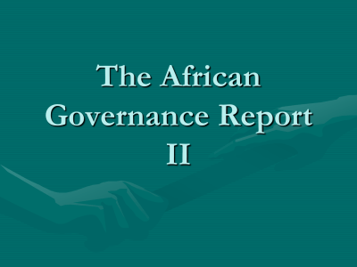 African Governance Report