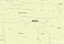 Location of Bawku on a map