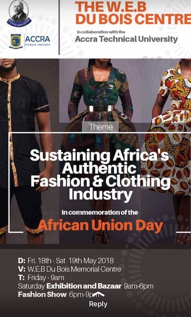 Dubois Centre To Hold 4th Fashion And Clothing Show News Ghana