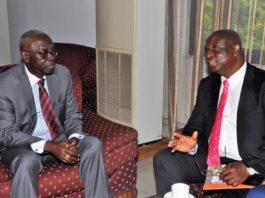 GOIL MD Mr Patrick Akorli and Board Chairman Mr Kwamina Bartels