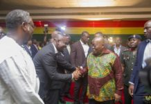 President Akufo Addo with the CEO of NEIP John Kumah