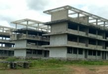 The abandoned E-Block School Building at Kasapin