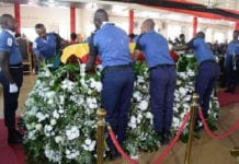 The late MP Kyeremateng Agyarko was buried yesterday