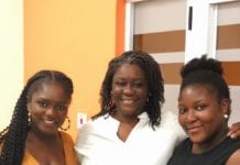 Dentaa Amoateng MBE (Left) with new GUBA Advisory Board Member Cynthia Quarcoo (Middle) and Claudia Andrews (Right)