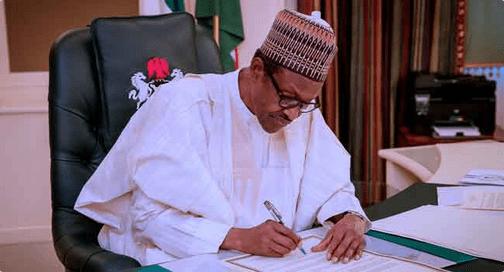 Buhari sign Executive
