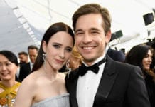 LOS ANGELES, CA - JANUARY 27: Rachel Brosnahan and Jason Ralph attends the 25th Annual Screen ActorsGuild Awards at The Shrine Auditorium on January 27, 2019 in Los Angeles, California. 480568 (Photo by Kevin Mazur/Getty Images for Turner)