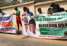 Protest against Obasanjo