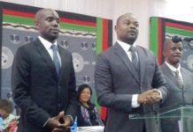 Accepted: Peter Kuwani (right) and his running mate Archibald Kalawang'oma